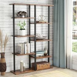 17 Stories 5-Tier Bookshelf Modern Etagere Bookshelf, 5 Shelf Industrial Display Standing Shelf Bookcase Storage Organizer in Black | Wayfair
