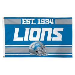 """""""WinCraft Detroit Lions 3' x 5' Established 1-Sided Deluxe Flag"""""""