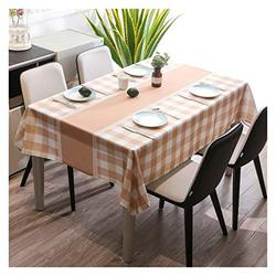Table Cloth Table Cloth, Fashionable and Simple Table Cloth Rectangular Table Cloth Table Mat Tea Table Cloth Durable and Oil-Proof Table Cover (Color : 2#, Size : 135180cm)