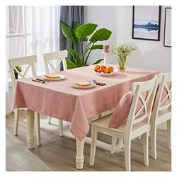 Table Cloth Table Cloth, Solid Color Cotton and Linen Table Cloth Coffee Table Table Cloth Rectangular Modern Durable Oil-Proof Table Cloth Household Table Cover (Color : 2#, Size : 140200cm)