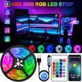 Bande lumineuse LED USB, Bluetooth, RGB 5050, 5V, Flexible, ruban de lampe, RGB TV, écran de bureau,