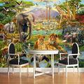 Wallpaper Mural 3D Animal World Mural Peel & Stick Wall Decal Wall Art Child Gift for Kid Room Nursery Bedroom Wall Home Decor Poster Mural Wallpaper-200X140cm
