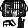 SuperLee 30 PCS BBQ Grill Tools Set, Heavy Duty Stainless Steel Barbecue Accessories Set with Carrying Bag, Complete Outdoor/Indoor Grilling Barbecue Utensil Gift Set for Camping Men Women