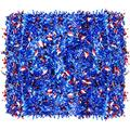 8 Pieces 52.4 Feet Patriotic Tinsel Garland Independence Day Metallic Garland Three-Color Metallic Tinsel Twist Red, Blue, White Star Tinsel Garland for 4th of July Memorial Day Party Decorations