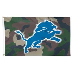 WinCraft Detroit Lions 3' x 5' Camo 1-Sided Deluxe Flag