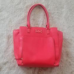 Kate Spade Bags   Kate Spade New York Baxter Street Tote   Color: Orange/Pink   Size: 14x14x4.5 (Kate Spade Measurements Show Larger)