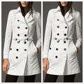 Burberry Jackets & Coats | Burberry London White Trench Coat Jacket | Color: White | Size: 4