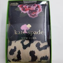 Kate Spade Accessories | Kate Spade 3 Pack Socks Floral Spade Os Multi | Color: Black/Tan | Size: Os