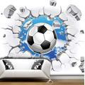 Wallpaper Mural 3D Wall Breaking Sports Football Mural Peel & Stick Wall Decal Wall Art Child Gift for Kid Room Nursery Bedroom Wall Home Decor Poster Mural Wallpaper-200X140cm