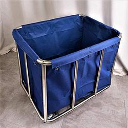 LJWJ Carts,Storage Car Service Car Utility Vehicle Multifunction Portable Trolley Home Hotel Laundry Sorter Cart with Rolling Wheel, Housekeeping Heavy-Duty Sorting Hamper with Removable Bag,Blue,91×