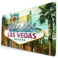 CANCAKA Large Gaming Mouse Pad,Las Vegas Sign Welcome to Fabulous Las Vegas,Nevada Sign Design,Non-Slip Rubber Mouse Pads Mousepad for Gaming Computer Office Desk,75×40×0.3cm