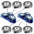 Melanie HQ8 Replacement Heads for Philips Norelco Shavers OEM HQ8/52, Precision Cutting System, New Upgraded (6 Pack) (White)