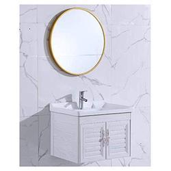 Makeup mirror Bathroom Bathroom Mirror Makeup Mirror Toilet Bathroom Mirror Wall Hanging Mirror Large Round Mirror Creative Mirror Wall Hanging Round Mirror Porch Decorative Mirror mirrors for desk