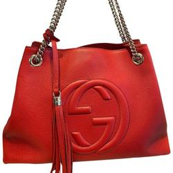 Gucci Bags | Gucci Soho Leather Tote With Chain Red Bag | Color: Red | Size: Os
