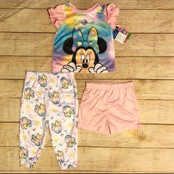 Disney Pajamas   Disney Junior Minnie Mouse 3-Piece Pajama Set- New   Color: Pink/White   Size: 4tg