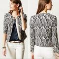 Anthropologie Jackets & Coats | Anthropologie Hei Hei Faifo Printed Jacket | Color: Blue/White | Size: 6