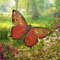 Arlmont & Co. 18.5 Inch Metal Butterfly Garden Stake in Red, Size 14.5 H x 18.5 W x 1.0 D in   Wayfair C070153C77294DB89C05450F47705965