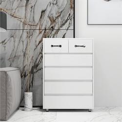 Latitude Run® 6-Drawer Chest Of Dresser Cabinet Tall Storage Nightstand Sidetable For Bedroom StorageWood in Brown/Green/Red   Wayfair