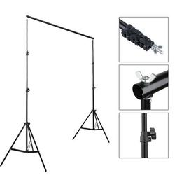 Zimtown Adjustable Background Support Stand Photo Photography Video Backdrop Lighting KitPlastic, Size 33.9 H x 6.3 W x 4.3 D in | Wayfair
