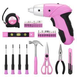 DEKOPRO 98 Piece Pink Tool Set General Household Hand Tool Bag & Plastic Tool Box, Size 7.0 H x 33.0 W x 22.6 D in | Wayfair WF-DKMT98-GP