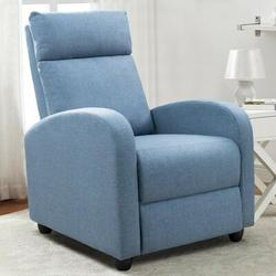 """Red Barrel Studio® Aaliya 27"""" Wide Home Theater Individual SeatPolyester/Polyester Blend in Blue, Size 38.6 H x 27.0 W x 62.6 D in   Wayfair"""