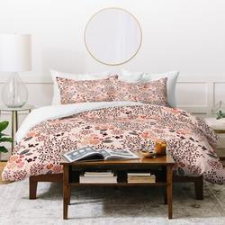 East Urban Home Iveta Abolina Garden Duvet Cover SetMicrofiber in Pink/Yellow, Size King Duvet Cover + 2 Pillow Cases | Wayfair