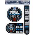 2021 NCAA Men's Basketball Tournament March Madness WinCraft 3-Pack Fan Decal