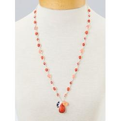 Women's Beachcomber Necklace, Coral Multi N/A