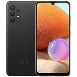 """Samsung Galaxy A32 (128GB, 4GB) 6.4"""" Super AMOLED 90Hz Display, 64MP Quad Camera, All Day Battery, Dual SIM GSM Unlocked (US + Global) 4G Volte A325M/DS (Fast Car Charger Bundle, Awesome Black)"""