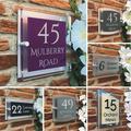 Numéro de maison moderne, bricolage, plaque personnalisée pour votre porte et maison, en acrylique