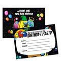 Birthday Party Invitation 16 Pcs Gaming Birthday Invitation Cards For Game Party Invitations Cards for Kids Gaming Birthday Party Supplies