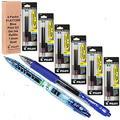 Pilot G2 Refills, Blue Gel Ink 1.0mm Bold Pt, (Four Set of 6 Packs) of Refills Plus 1 Pilot G2 1.0 Bold Pt. Blue Pen and 1 Pilot B2p Blue Pen