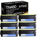[High Yield] 6 Pks Black TN460 TN-460 Compatible Toner Cartridge Replacement for Brother MFC 8300J 8500 8600 8700 HL 1030 1200 1240 1250 1270N 1430 1670N 1850 1870N DCP 1200 1400 Printer Ink Cartridge