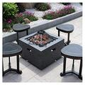Outdoor Fire Pit Garden Terrace BBQ Leisure Table, Outdoor Wood Burning Fire Bowl, Outdoor Heating Fireplace, 71cm/28 (Size : Kit-3)