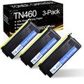 [High Yield] 3 Pks Black TN460 TN-460 Compatible Toner Cartridge Replacement for Brother DCP 1200 HL 1030 1200 1240 1250 1270N 8350P 8350NLT 1670N MFC 2500 4750 8300J 8500 8600 Printer Ink Cartridge