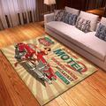Route 66 Themed Rectangular Area Rug Carpet Rock Band Rug Carpet Music Room Floor Carpet Area Rug Floor Carpet Living Room Home Decorative Special Design Washable Anti-Skid Base Carpet of Idols