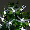 WONFAST Solar Dragonfly String Light, Waterproof 20ft 30 LED Dragonfly Fairy String Light with 2 Modes Christmas Solar String Lights for Garden, Wedding, Party and Holiday Decorations (Cold White)