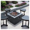 Outdoor Fire Pit Garden Terrace BBQ Leisure Table, Outdoor Cooking Fire Pit, Wood Burning Fire Bowl, Multifunctional Heating Fireplace (Size : Kit-3)