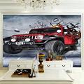 ZCLCHQ Wall Mural 3D Broken car Custom Wallpaper 3D Effect Large Mural Wall Murals Home Decor W200 X H140 cm
