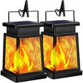TomCare Solar Lights Outdoor Flickering Flame Solar Lantern Outdoor Hanging Decorative Outdoor Lanterns Lighting Solar Powered Waterproof LED Flame Umbrella Lights for Patio Deck Yard Garden, 2 Pack