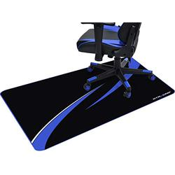 GTRACING Office Chair Mat for Hardwood Floor 43 x 35 inch Gaming Computer Desk Floor Mat Desk Chair Protector for Rolling Chair Blue