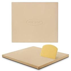 Unicook Large Pizza Stone 16 Inch, Heavy Duty Cordierite Pizza Grilling Stone, Bread Baking Stone, Thermal Shock Resistant Pizza Stone for Oven Grill, Baking Pizza, Bread, Cookie, Rectangular 16 x 14
