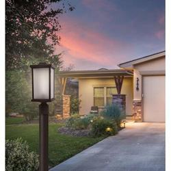 "Solus 1 - Light 15"" H Hardwired Integrated LED Lantern HeadPlastic in Black, Size 15.0 H x 6.35 W x 6.35 D in | Wayfair SC51TF-LE26C-BK"