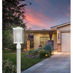 """Solus 1 - Light 15"""" H Hardwired Integrated LED Lantern HeadPlastic in White, Size 15.0 H x 6.35 W x 6.35 D in 