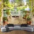 XiaCha Space Balcony Garden Landscape 3D Self-Adhesive Removable Diy Vinyl Wall Mural Stickers Vinyl Stickers Wall Art Easy To Apply Peel & Stick Durable Wallpaper 3D Wall Murals 66X96 Inch