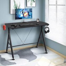 "Inbox Zero Small Computer Desk 41"" Modern Office Desk Computer Table Study Writing Desk Workstation For Home Office Computer Gaming Desk w/ Cup Hold"