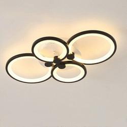 "Ivy Bronx Wheless 4-Light 11.05"" LED Flush Mount Acrylic in Black, Size 4.09 H x 11.05 W x 12.53 D in | Wayfair 5BD70ACAC4E84EA59F8B4F0C121C07EB"