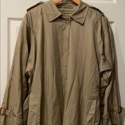 Burberry Jackets & Coats | Burberry Mens Car Coat Trench Coat | Color: Cream/Tan | Size: Xl