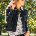 Levi's Jackets & Coats | Levis Black Bow Tie Jacket | Color: Black | Size: L