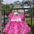 Disney Dresses | Baby Girls Pink Kayleigh Dress Size 12-18 Months | Color: Pink/White | Size: 12-18mb